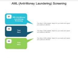 AML Anti Money Laundering Screening Ppt Powerpoint Presentation Pictures Aids Cpb