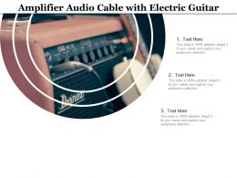 Amplifier Audio Cable With Electric Guitar