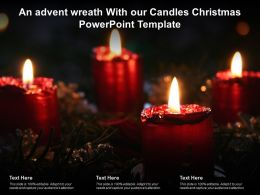 An Advent Wreath With Our Candles Christmas Powerpoint Template