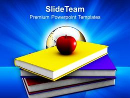 An Apple With Books Powerpoint Templates Ppt Themes And Graphics 0213
