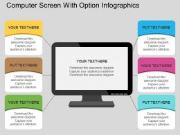 an Computer Screen With Option Infographics Flat Powerpoint Design