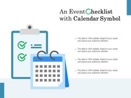 An Event Checklist With Calendar Symbol