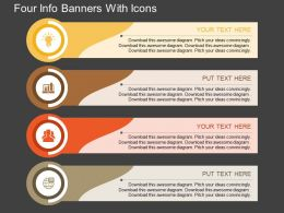 an Four Info Banners With Icons Flat Powerpoint Design