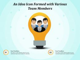 An Idea Icon Formed With Various Team Members