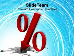 An Illustration Of Falling Percent Symbol Powerpoint Templates Ppt Themes And Graphics