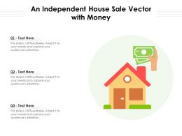 An Independent House Sale Vector With Money