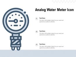 Analog Water Meter Icon