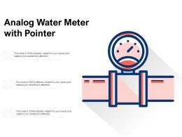 Analog Water Meter With Pointer