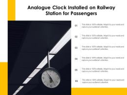 Analogue Clock Installed On Railway Station For Passengers