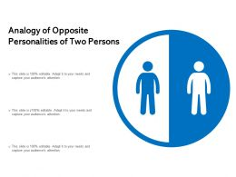 Analogy Of Opposite Personalities Of Two Persons