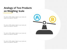 Analogy Of Two Products On Weighing Scale