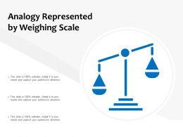 Analogy Represented By Weighing Scale