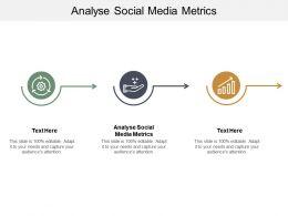 Analyse Social Media Metrics Ppt Powerpoint Presentation Portfolio Information Cpb
