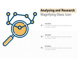 Analysing And Research Magnifying Glass Icon