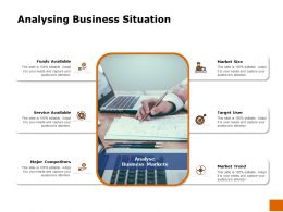 Analysing Business Situation Service Ppt Powerpoint Presentation Pictures Ideas