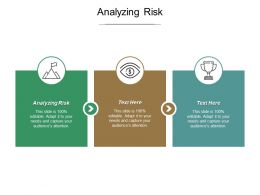 Analysing Risk Ppt Powerpoint Presentation Diagram Templates Cpb