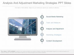 Analysis And Adjustment Marketing Strategies Ppt Slides