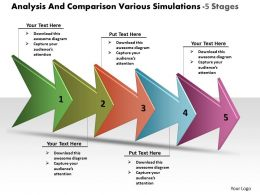 analysis_and_comparison_various_simulations_5_stages_workflow_management_powerpoint_templates_Slide01
