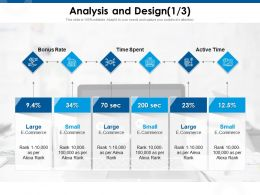 Analysis And Design Bonus Rate Ppt Powerpoint Presentation Infographic Template