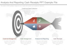 Analysis And Reporting Cash Receipts Ppt Example File