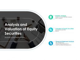 Analysis And Valuation Of Equity Securities Ppt Powerpoint Presentation Diagram Images