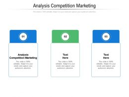 Analysis Competition Marketing Ppt Powerpoint Presentation Gallery Good Cpb