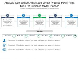 Analysis Competitive Advantage Linear Process Powerpoint Slide For Business Model Planner Infographic Template