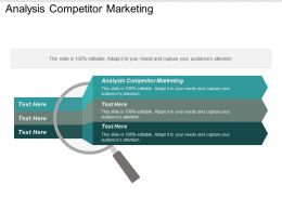 Analysis Competitor Marketing Ppt Powerpoint Presentation Gallery Picture Cpb