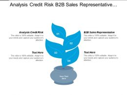 Analysis Credit Risk B2b Sales Representative Social Networking Cpb