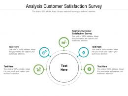 Analysis Customer Satisfaction Survey Ppt Powerpoint Presentation Gridlines Cpb