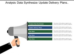 Analysis Data Synthesize Update Delivery Plans Empowered Communities