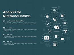Analysis For Nutritional Intake Ppt Powerpoint Presentation Icon Slide Download