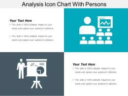 Analysis Icon Chart With Persons