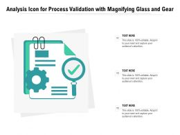 Analysis Icon For Process Validation With Magnifying Glass And Gear
