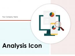 Analysis Icon Magnifying Business Growth Arrow Information Research Gear