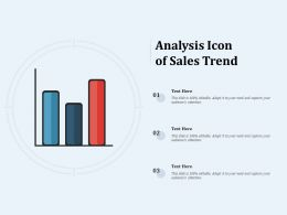 Analysis Icon Of Sales Trend