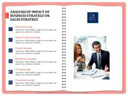 Analysis Of Impact Of Business Strategy On Sales Strategy Attention Powerpoint Presentation