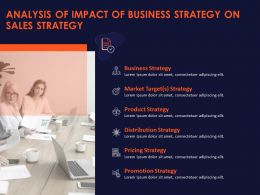 Analysis Of Impact Of Business Strategy On Sales Strategy