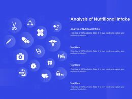 Analysis Of Nutritional Intake Ppt Powerpoint Presentation Diagram Templates