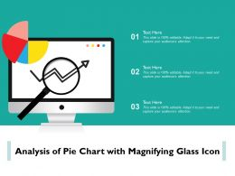 Analysis Of Pie Chart With Magnifying Glass Icon