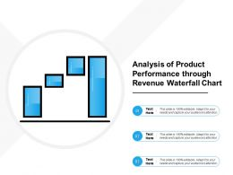 Analysis Of Product Performance Through Revenue Waterfall Chart