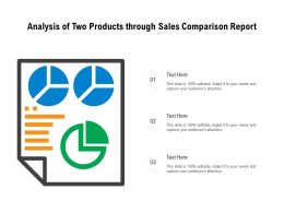 Analysis Of Two Products Through Sales Comparison Report