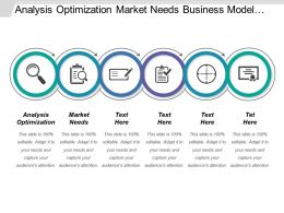 Analysis Optimization Market Needs Business Model Sales Strategy