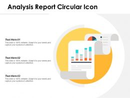 Analysis Report Circular Icon