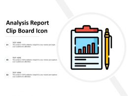 Analysis Report Clip Board Icon