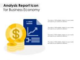Analysis Report Icon For Business Economy