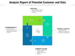 Analysis Report Of Potential Customer And Data