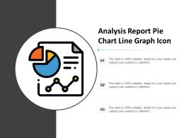 Analysis Report Pie Chart Line Graph Icon