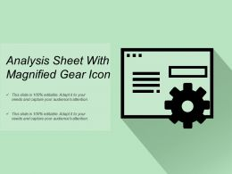 Analysis Sheet With Magnified Gear Icon