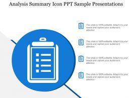 analysis_summary_icon_ppt_sample_presentations_Slide01